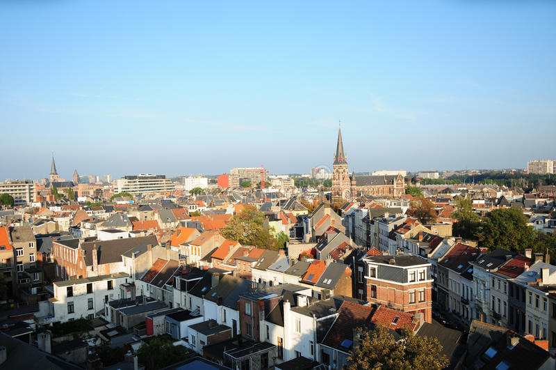 View of Zurenborg, Antwerp royalty free stock image