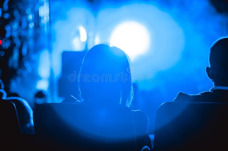 Audience at the concert royalty free stock photo
