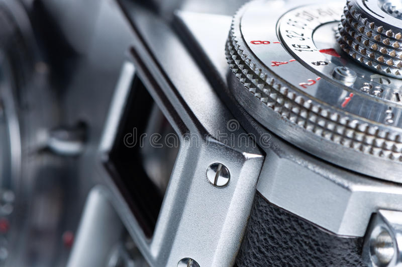 Viewfinder der alten Kamera. stockfotos