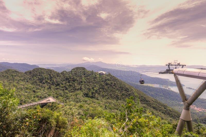 Viewing platform, Gunung Machinchang, Langkawi royalty free stock image