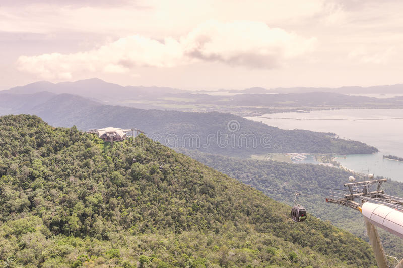 Viewing platform, Gunung Machinchang, Langkawi royalty free stock photography
