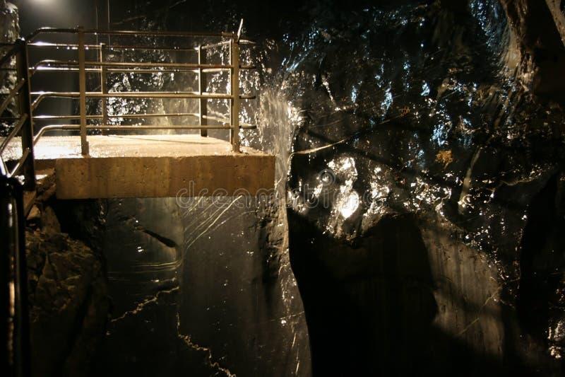 Viewing platform. Overlooking cave in the Lauterbrunnen Valley, Berne Canton, Switzerland stock images
