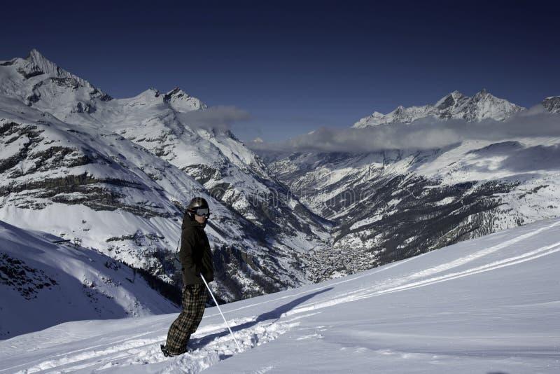 viewing zermatt fotografia royalty free
