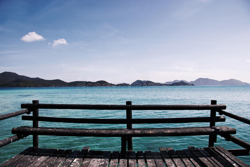 Viewpoint. Seaseide viewpoint with islands in horizont stock photography
