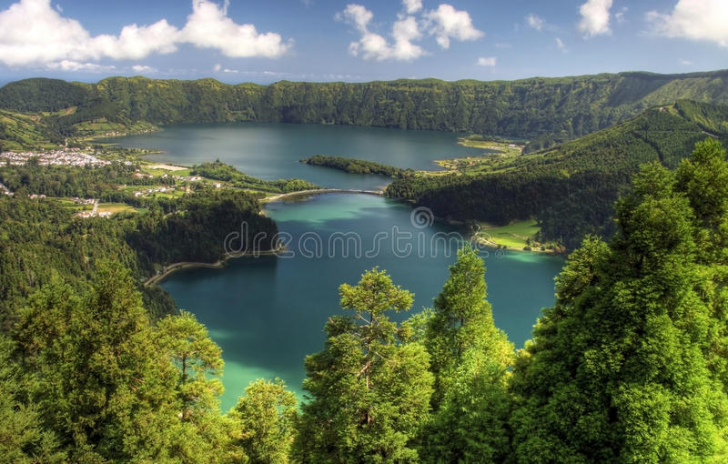 Viewpoint Azores. Viewpoint Vista do Rei at Sao Miguel, Azores stock images