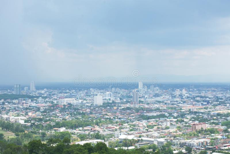 Viewpoint of Hat Yai,Songkla Province in Thailand stock photos