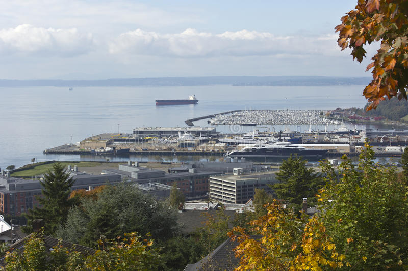 Download Viewpoint Of An Industrial Port And Marina. Stock Photo - Image: 34340578