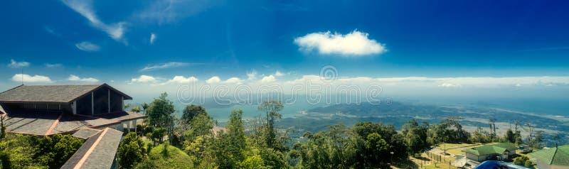 Viewpoint at the Langkawi island. Malaysia. Panoramic view from the top of Gunung Raya mountain at Langkawi island in Malaysia royalty free stock photo