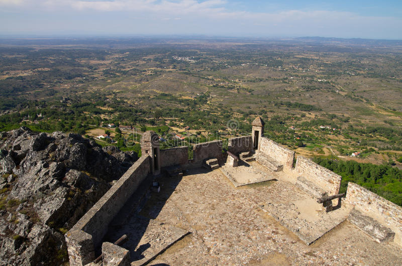 Viewpoint from Marvao castle towers stock photo