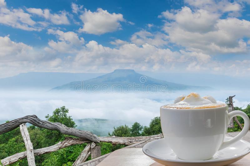 viewpoint at the mountain in the Phu Pa por Fuji at Loei, Lo royalty free stock photography