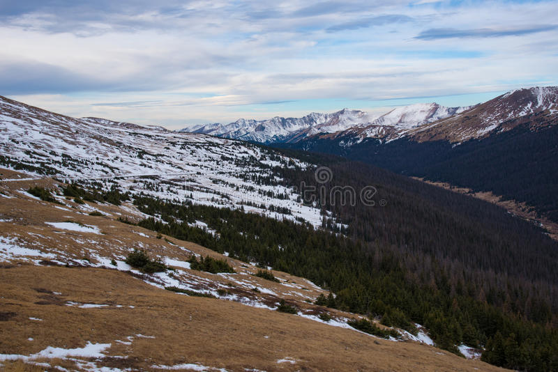 Viewpoint at Rocky Mountain NP. Viewpoint of Rocky Mountain NP, Colorado royalty free stock image