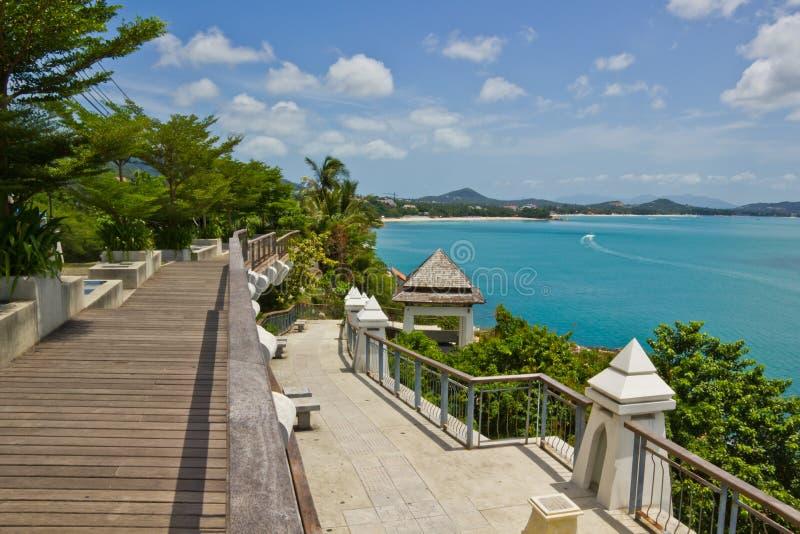 Viewpoint at samui beach stock photos