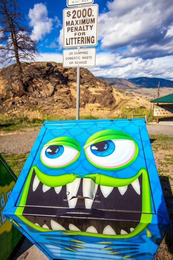 Viewpoint at Savona at Kamloops Lak British Columbia royalty free stock images