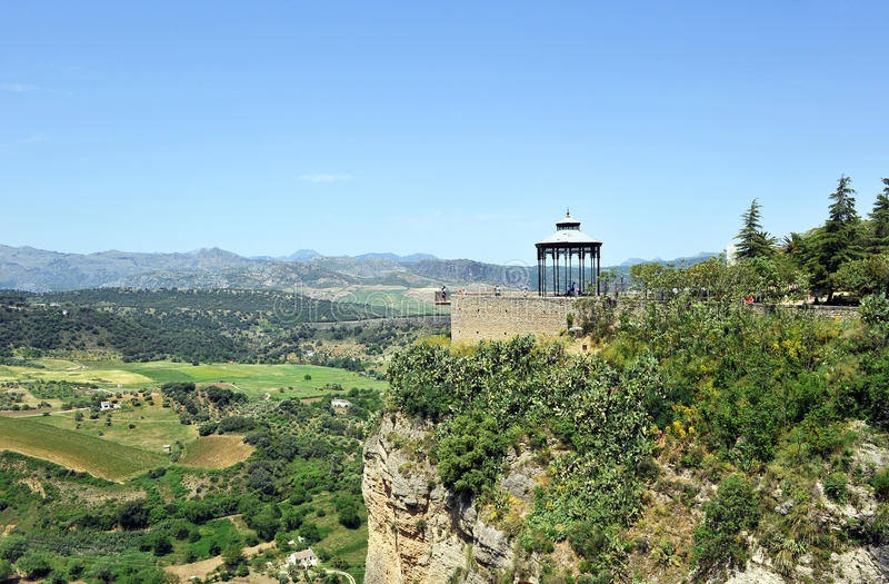 Viewpoint on the Serrania de Ronda, city of Ronda in the province of Malaga, Spain royalty free stock photography