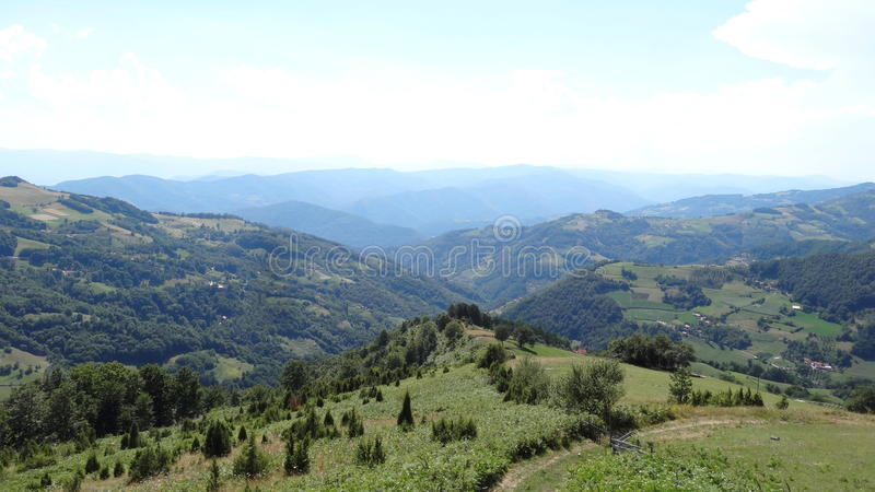 Viewpoint. Western Serbia,township Bajina Basta royalty free stock images