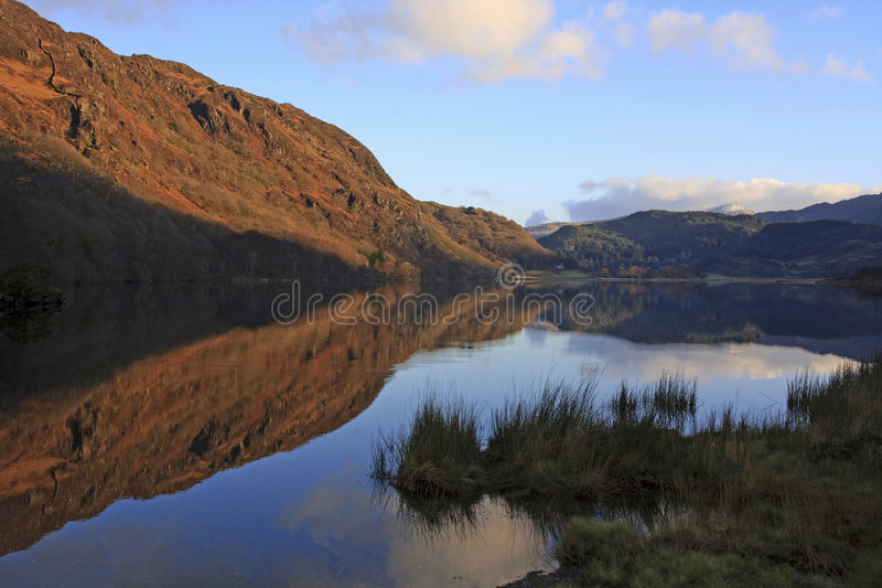 Views around Beddgelert. A village in Snowdonia and Llyn Dinas stock photo