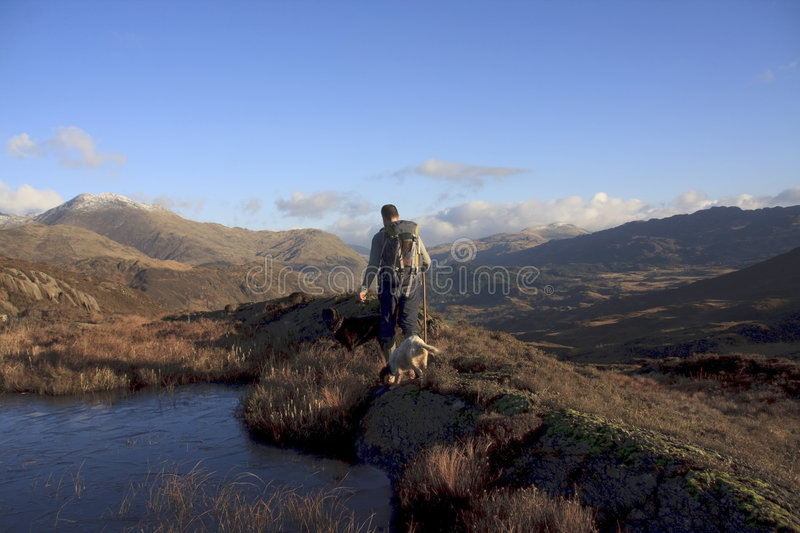 Views around Beddgelert. A village in Snowdonia and Llyn Dinas royalty free stock photography
