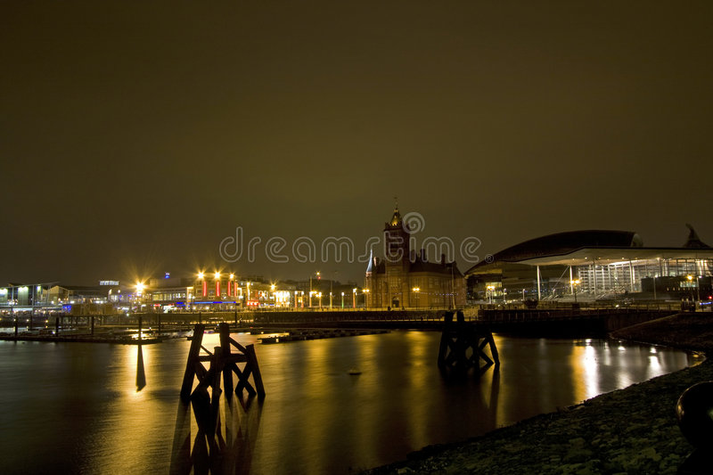 Download Views around Cardiff Bay stock image. Image of quay, cardiff - 7119109