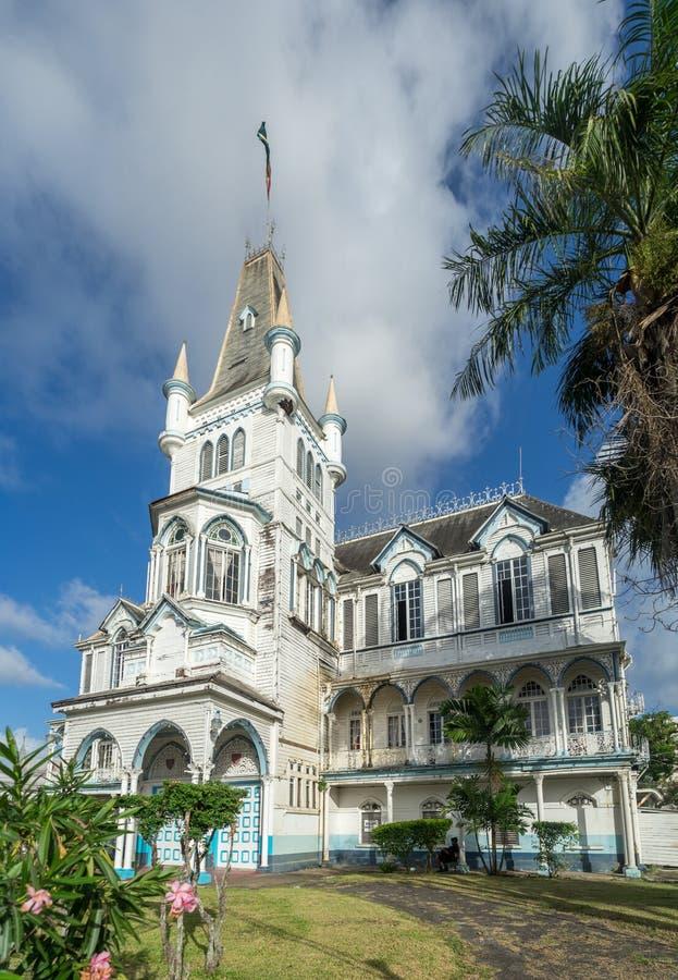 Views around Georgetown, Guyana. Avenue of the Republic - Views around Georgetown the capital city of Guyana stock image
