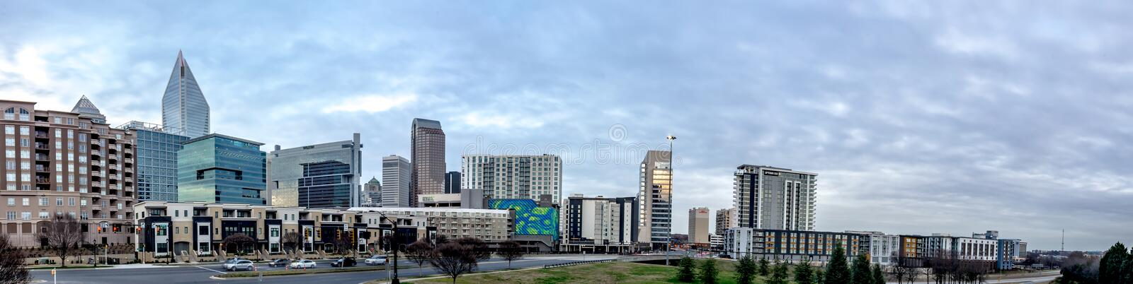 Views of charlotte north crolina city skyline royalty free stock images