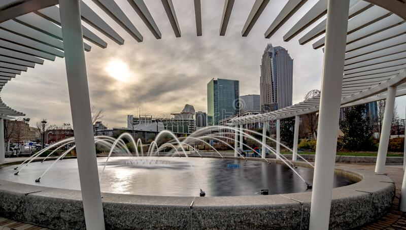 Views of charlotte north crolina city skyline stock images