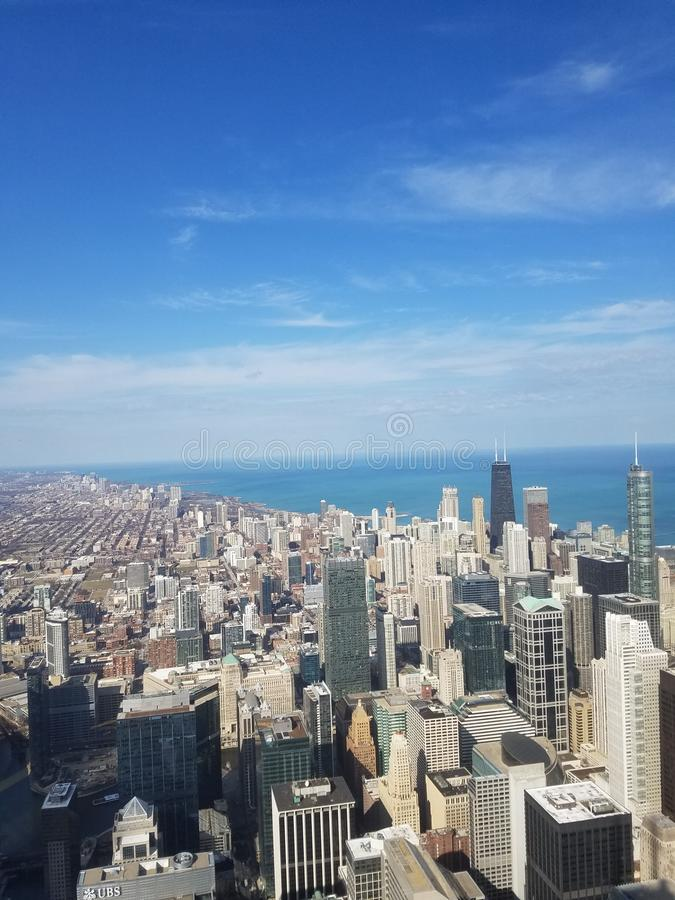 Chicago view stock photography