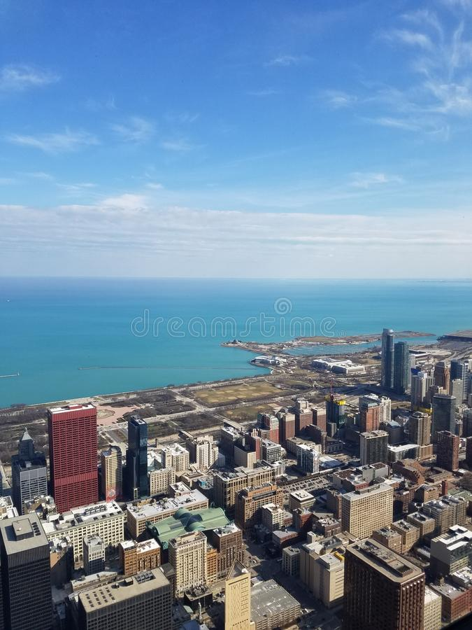 Chicago view stock image