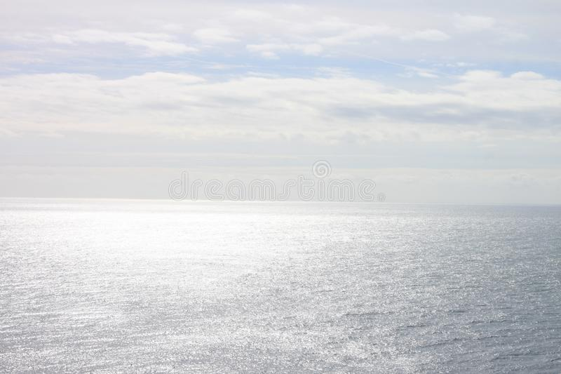 Views from cliff, horizon, sky and ocean royalty free stock photography