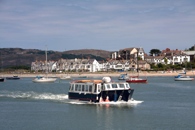 Views From Conwy Marina Royalty Free Stock Photography