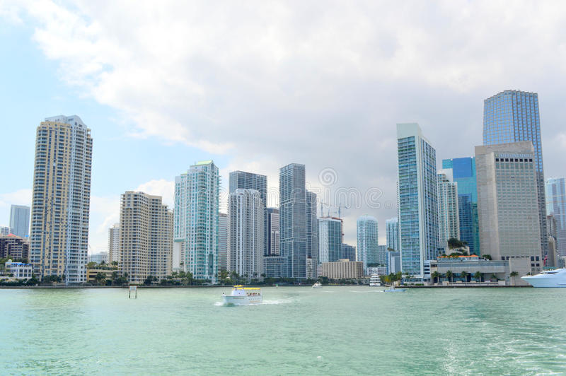 Views of the downtown miami skyline royalty free stock photography