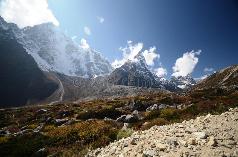 Views Of The Everest Base Camp Trek Stock Image