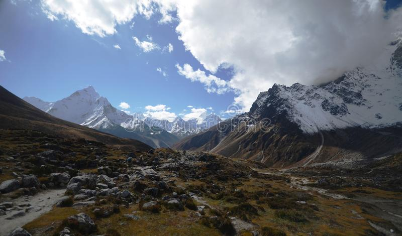 Views Of Everest Peaks Stock Photography