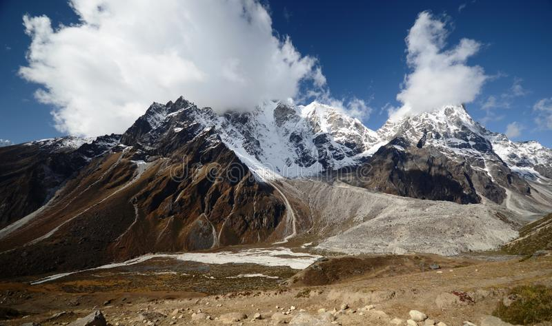 Download Views of the Everest ridge stock image. Image of nature - 21926629