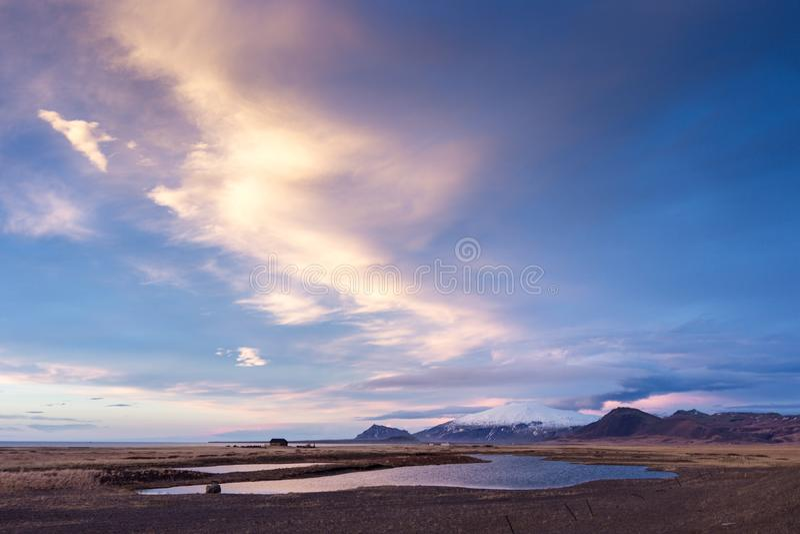 Views of the glacier Snaefellsjokull  Iceland royalty free stock photo