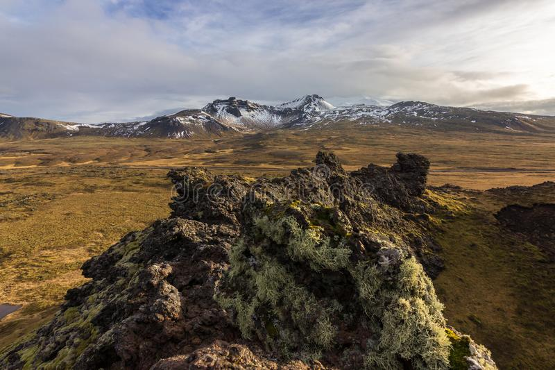 Views of the glacier Snaefellsjokull  Iceland royalty free stock photo