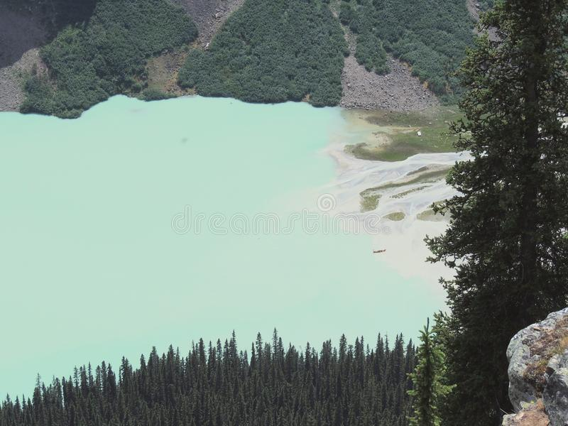 Views hiking around Lake Louise, Lakeview trail, Plain of six glaciers, Lake Agnes, Mirror Lake, Little and Big Beehive, Banff Nat. Ional Park, Canada, Alberta stock images