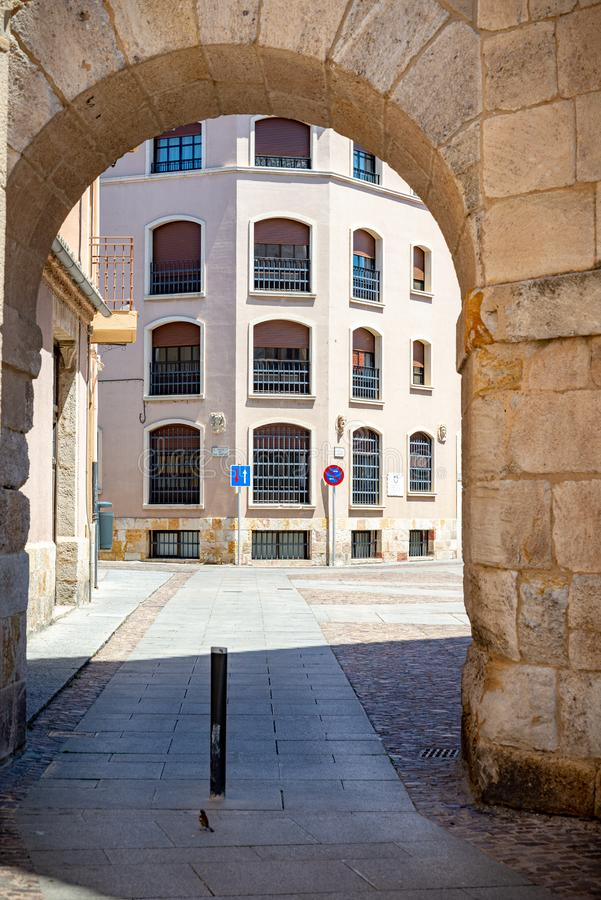 Views of the historic city of zamora stock images