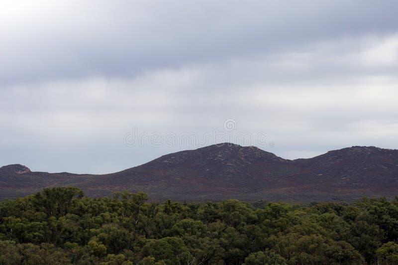 Views inside Wilpena Pound, SA, Australia. Views of rain shower inside Wilpena Pound, Flinders` Ranges, South Australia, Australia royalty free stock photography