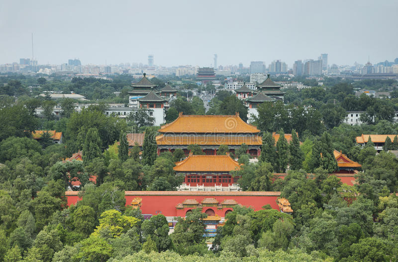 Views from Jingshan Park, Beijing. China royalty free stock photos