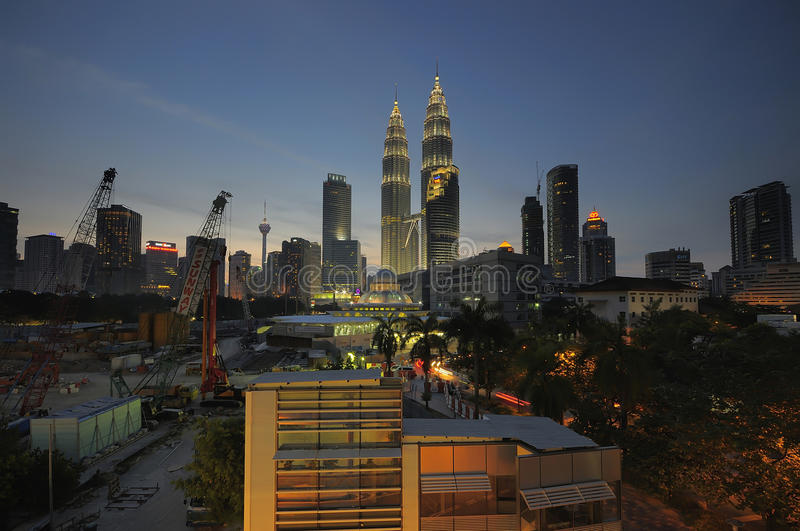 Views on Kuala Lumpur City Centre (KLCC ) stock photos