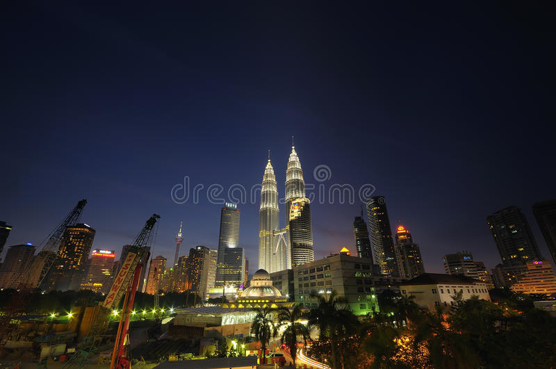Views on Kuala Lumpur City Centre (KLCC ) royalty free stock photo