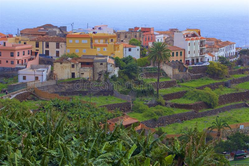 Views of La Gomera island, Canaries. La Gomera- mountains, views, panoramas, Canary islands - Agulo stock photo