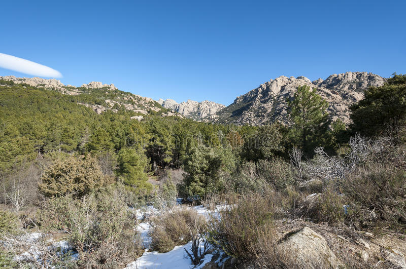 Views of La Pedriza, Madrid, Spain. Views of La Pedriza from Canto Cochino, in Guadarrama Mountains National Park, Madrid, Spain. In the background can be seen stock images