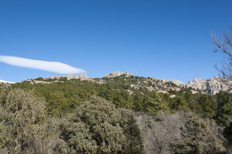 Views of La Pedriza, Madrid, Spain. Views of La Pedriza from Canto Cochino, in Guadarrama Mountains National Park, Madrid, Spain. In the background can be seen stock photography