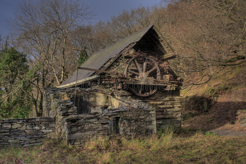 Views from Llanberis. And the derelict slate quarries and buildings royalty free stock photos