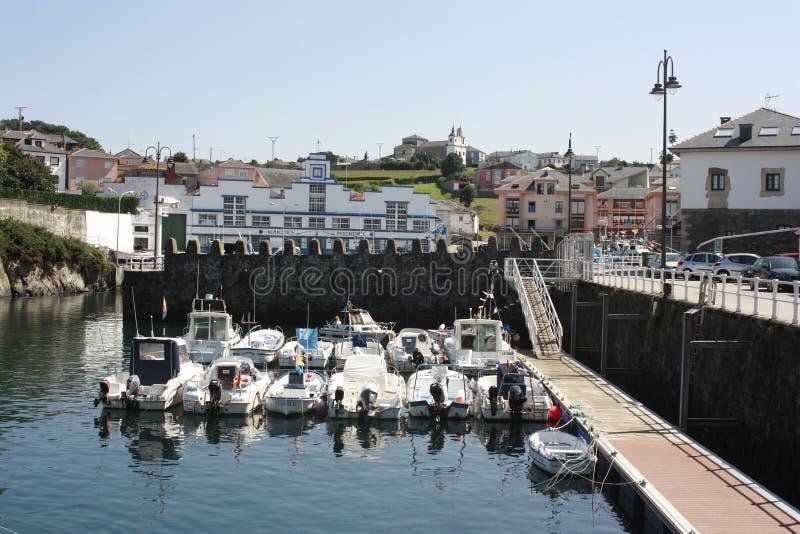 Views of Luarca port, Asturias royalty free stock photo