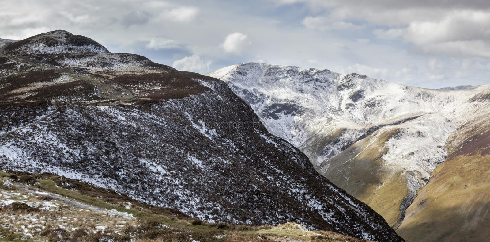Views of Maiden Moor overlooking Causey Pike royalty free stock images