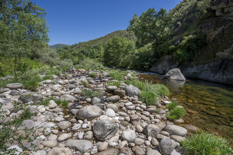Views of the Minchones Stream royalty free stock image