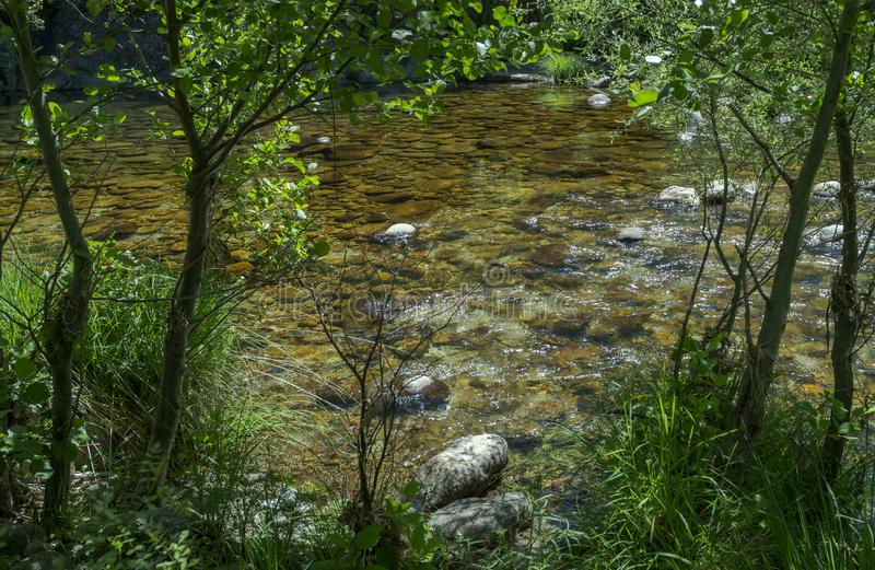 Views of the Minchones Stream stock images