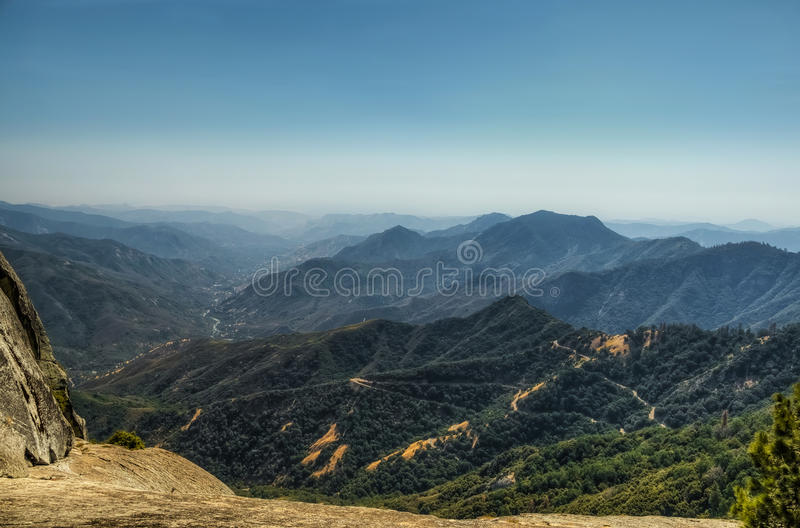 Views from Moro Rock in Sequoia and Kings Canyon National Park, California. stock photos